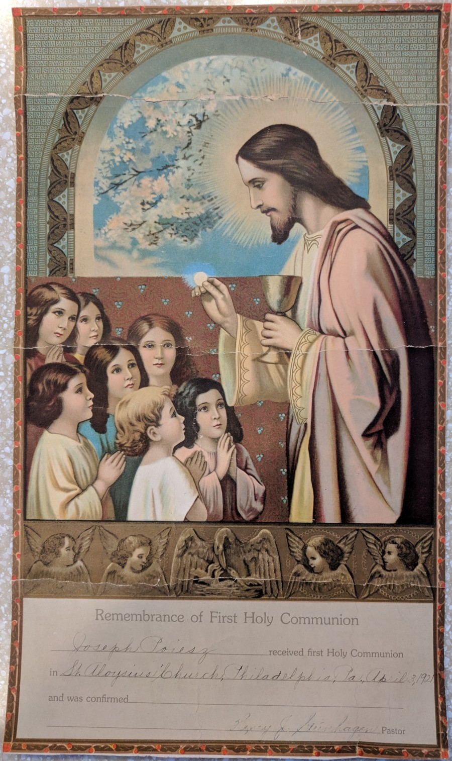 Remembrance Joseph Communion